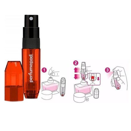 Travalo Perfume Pod ICE Piros Szórófejes Parfüm Utántöltő 5ml