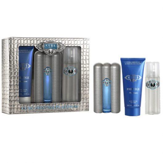 Cuba Prestige Platinum Díszdoboz Férfiaknak (Parfüm-After Shave-Shower Gel)