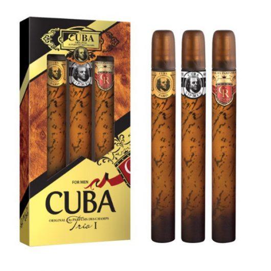 Cuba Trio 1 Parfüm Díszdoboz Férfiaknak (Gold-VIP-Royal)