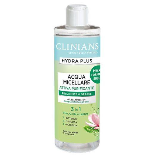 Clinians Hydra Plus Micellás Víz Normál és Zsíros Bőrre 400ml
